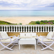 Stock Photo: Patio with beach view
