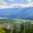 Stock Photo: View of Revelstoke in British Columbia, Canada