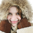 Stock Photo: Happy winter girl