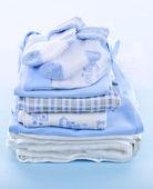 Baby boy clothes — Stock Photo
