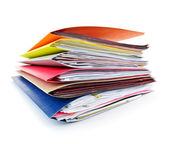 Folders with documents — 图库照片
