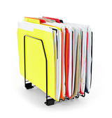 File folders with papers — Stock Photo