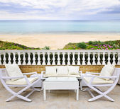 Patio with beach view — Stock Photo