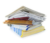 Stack of magazines and newspapers — Stock Photo