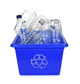 Recycling blue box — Stock Photo