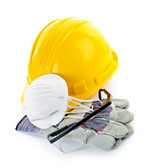 Construction safety equipment — Stock Photo