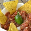 Постер, плакат: TomatoPepper Salsa & Chips