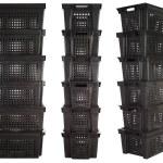 Plastic crates   Isolated — Stock Photo #5840626