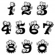 Cartoon monster numerals - Stock Vector
