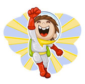 Cartoon boy-astronaut — Stock Vector