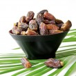 Plate full of Fresh Date Fruits - Foto Stock
