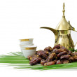 Arabic Coffee with Dates Fruit — Stock Photo #5461818