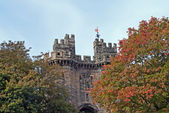 Lancaster castle gates — Stock Photo