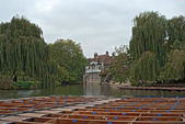 Punts on the river Cam — Stock Photo