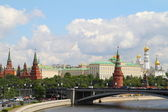 Panorama Kremlin Embankment — Stock Photo