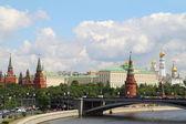 Panorama Kremlin Embankment — Stock Photo