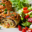 Vegan Lasagna Rolls - Stock Photo