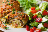 Vegan Lasagna Rolls — Stock Photo