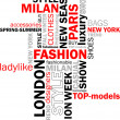 Stock Vector: Fashion words