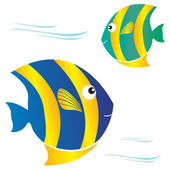 Color cartoon Fish — Stock Vector