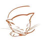 Cat sketch — Stock Vector