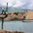 Stock Photo: Dancing Girl Statue. Budva, Montenegro.