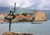 Dancing Girl Statue. Budva, Montenegro. — Stock Photo