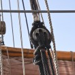 Ships rigging and winch — Stock Photo #6575183