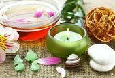 Lázeňské příslušenství pro masáže a krása — Stock fotografie