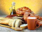 Pszenica i chleb — Zdjęcie stockowe