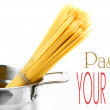 Pasta on the table and ingredients from vegetables — Stock Photo