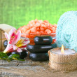 Spa accessories  for massage and beauty — 图库照片