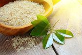 Raw white rice — Stock Photo
