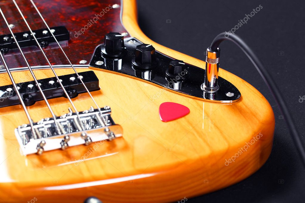 Bass guitar closeup  Stock Photo #6293473