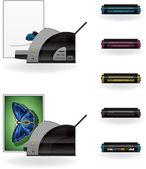 LaserJet Printer — Stock Vector