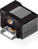 Office InkJet Printer — Stock Vector