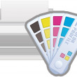 ICC Color Profile Printer Icon — Stock Vector