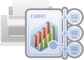 Tisk ikony sítě — Stock vektor