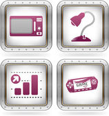 Misc Internet Icons — Stock Vector