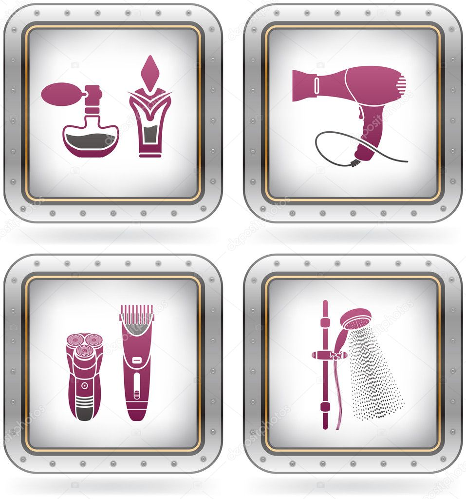 Bath utensils stock vector vectorminator 6725083 for Bathroom utensils