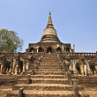 Wat Chang Lom - Stock Photo