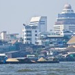 Bangkok and its river — Stock Photo