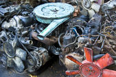 Old car parts — Stock Photo