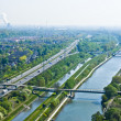 Rhine-Herne Canal and Emscher - Stock Photo
