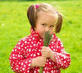 Portrait von a süss wenig mädchen — Stockfoto