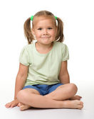 Portrait of a cute little girl — Foto Stock