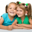 Two little girls - best friends — Stock Photo #6290142