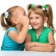 Two little girls are chatting — Stock Photo #6290147