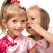 Two little girls are chatting — Stock Photo #6457814