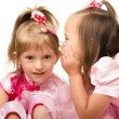 Two little girls are chatting — Stock Photo #6581552